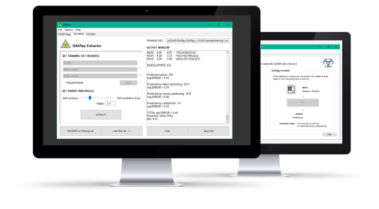 QSARpy insilico tool client screenshots