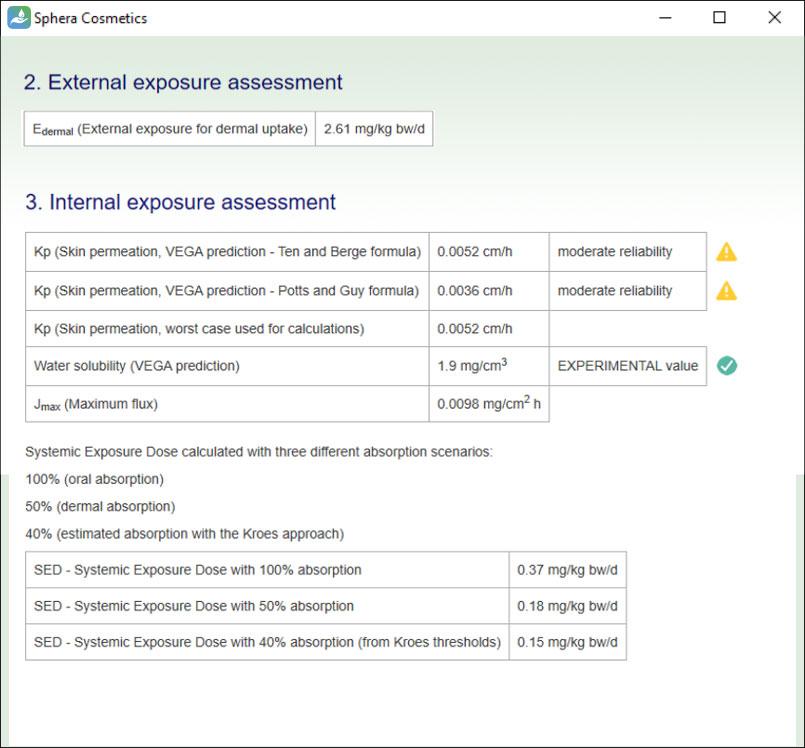 SpheraCosmetics exposure assessment